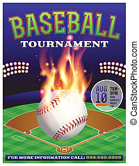torneo, baseball, illustrazione