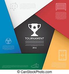 torneo, ), (, football, infographic, fondo, calcio