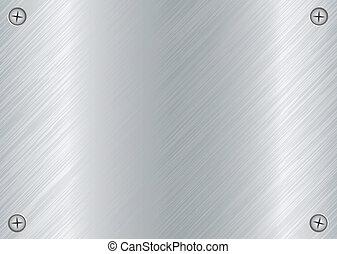 tornillo, plato metal
