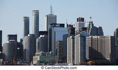 Toronto City Center seen across the water