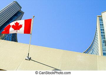 City Hall - Toronto City Hall Buildings, Canadian Flag