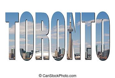 Toronto cityscape - Toronto word picture