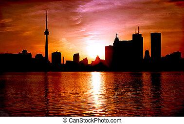 Toronto Dusk - Toronto Ontario Canada Skyline