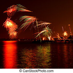 toronto, feux artifice