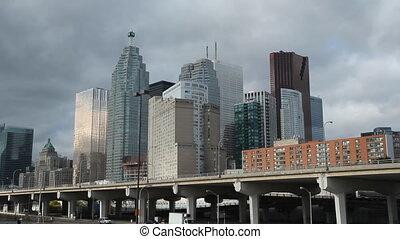 Toronto financial district. Closeup