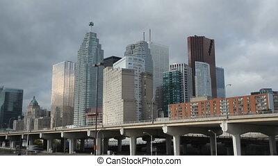 Toronto financial. Timelapse.