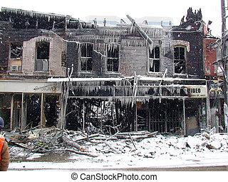 TORONTO FIRE DESTRUCTION