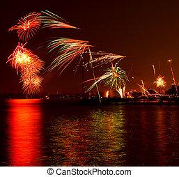 toronto, fireworks