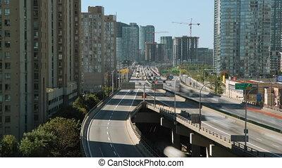 Toronto Gardiner Expressway. Tlapse