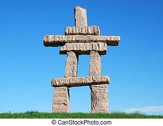 Toronto Inukshuk  in a frontal view
