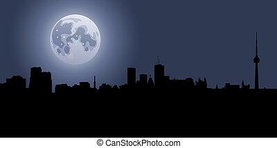 toronto, luna piena