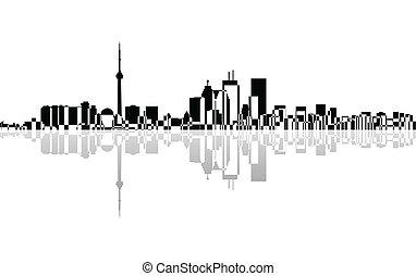 toronto, miasto, panorama