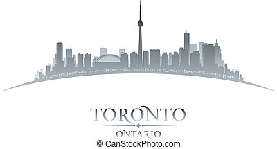 Toronto Ontario Canada city skyline silhouette. Vector ...