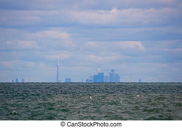 Toronto skyline across Lake Ontario