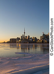 Toronto Skyline at Sunset in the Winter