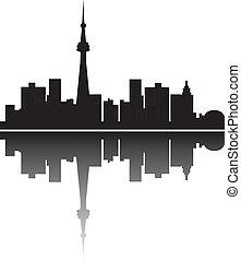 Toronto Skyline canada - toronto canadian skyline in black...