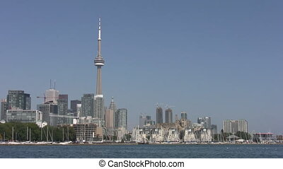 Toronto skyline. - Toronto skyline shot from the west,...