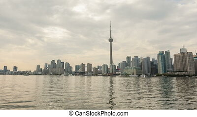 Toronto Skyline in Motion - Time lapse Toronto Skyline in...
