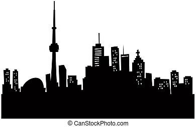 toronto skyline, rysunek