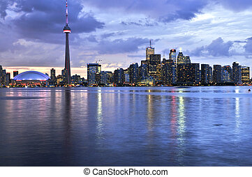 Toronto skyline - Scenic view at Toronto city waterfront ...