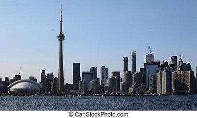 Toronto skyline seen across the harbor