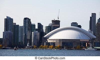 Toronto skyline seen across the water