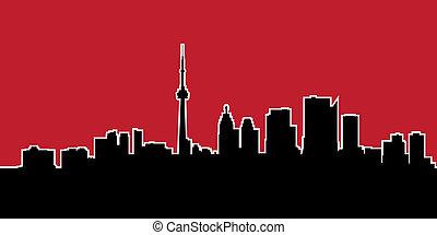 Toronto Skyline Silhouette - Skyline silhouette of the city...