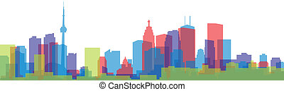 Toronto Skyline Silhouette - A skyline silhouette of the...