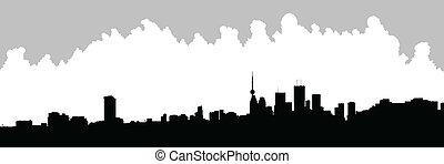 Toronto Skyline Silhouette - Skyline silhouette of downtown...