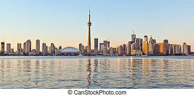 Toronto skyline Tower downtown skyscrapers - The landmark...