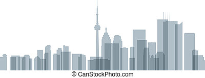 Toronto Skyline Transparent - Skyline silhouette of downtown...