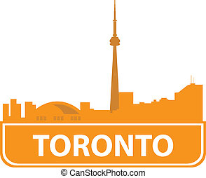 Toronto skyline. Vector illustration for you design