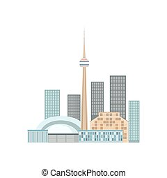 Toronto Skyline View As A National Canadian Culture Symbol....