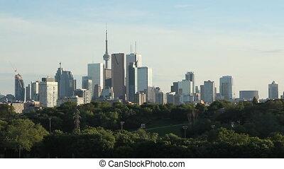 Toronto skyline. Wide shot.
