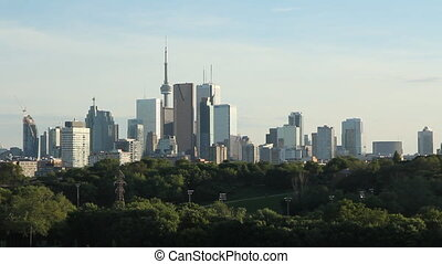 Toronto skyline. Wide shot.