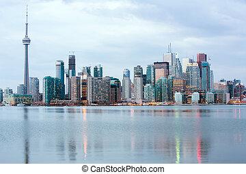 Toronto skylline - Toronto Skyline at dusk, Ontario, Canada