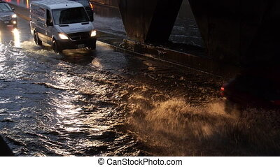 Toronto Storm Flooding 2 - Storm footage shot in Toronto...