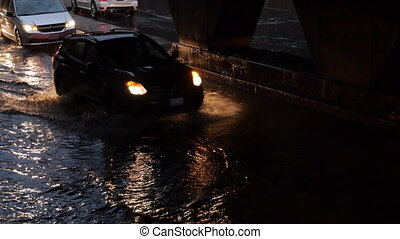 Toronto Storm Flooding 4 - Storm footage shot in Toronto...