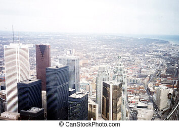 Toronto view from CN Tower March 2002