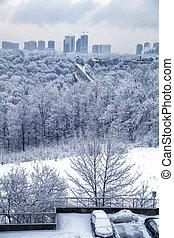 Toronto winter morning - Toronto morning cityscape, Tornto ...