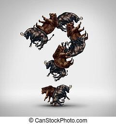 toros, y, osos, pregunta
