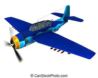 Torpedo bomber Avenger - Render of WW2 torpedo bomber...