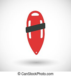 40e6b2329d6e Torpedo rescue lifeguard buoy flat icon. Support