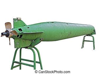 Torpedo isolated on white