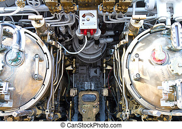 Torpedo room section of a submarine