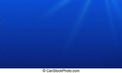 Torpedo underwater.