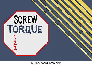 torque., rectángulo, fuerza, concepto, torcer, plano de...