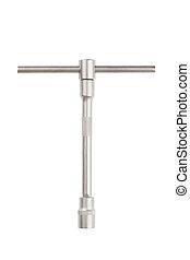 Torque spanner and socket - Steel torque spanner and socket...