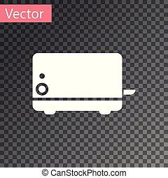 torradeira, isolado, ilustração, experiência., vetorial, branca, transparente, ícone