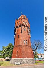 torre água, (1905), em, malbork, polônia